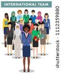 group of businesswomen standing ... | Shutterstock .eps vector #1112359880