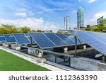 solar and modern city skyline | Shutterstock . vector #1112363390