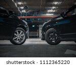 black car face to face  max... | Shutterstock . vector #1112365220
