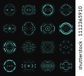hud futuristic element. hi tech ... | Shutterstock .eps vector #1112365910