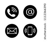 contact icons in flat style.... | Shutterstock .eps vector #1112366390
