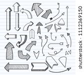 hand draw arrow set. | Shutterstock .eps vector #1112369150
