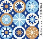 folk stars seamless pattern....   Shutterstock .eps vector #1112383874