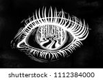realistic eye with highly...