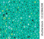 memphis pattern. seamless... | Shutterstock .eps vector #1112386208