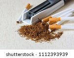A Pile Of Natural Tobacco On A...