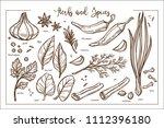 fresh fragrant natural herbs... | Shutterstock .eps vector #1112396180