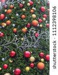 decorative christmas tree balls.... | Shutterstock . vector #1112398106