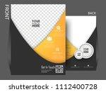 business brochure flyer design...   Shutterstock .eps vector #1112400728