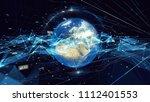 global communication technology ... | Shutterstock . vector #1112401553