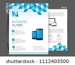 business brochure flyer design... | Shutterstock .eps vector #1112403500