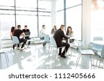 business people in modern office | Shutterstock . vector #1112405666