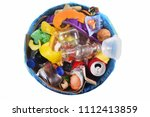 top view of a garbage can on... | Shutterstock . vector #1112413859