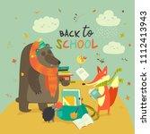 back to school illustaration...   Shutterstock .eps vector #1112413943