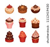 set of desserts. icons   Shutterstock .eps vector #1112419430