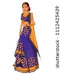 beautiful indian bride in... | Shutterstock .eps vector #1112425439