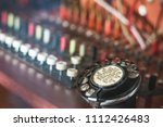 selective focus  old fashioned... | Shutterstock . vector #1112426483