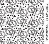 black and white geometric... | Shutterstock .eps vector #1112428019