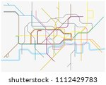 vector map of london... | Shutterstock .eps vector #1112429783