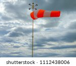 Windsock In Windy Weather With  ...