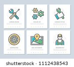 set of vector car service and... | Shutterstock .eps vector #1112438543