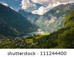 geiranger fjord  norway | Shutterstock . vector #111244400