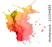 abstract hand drawn watercolor... | Shutterstock . vector #111244859