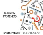 background with bolts nuts... | Shutterstock .eps vector #1112464370