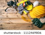 construction site safety.... | Shutterstock . vector #1112469806