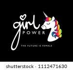 girl power typography   vector...   Shutterstock .eps vector #1112471630