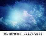space of night sky with cloud... | Shutterstock . vector #1112472893