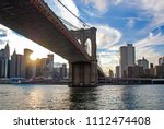 famous brooklyn bridge in new... | Shutterstock . vector #1112474408