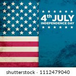 usa sign. memorial day. 4th of... | Shutterstock . vector #1112479040