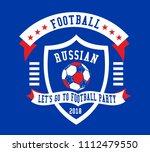 soccer ball graphic design... | Shutterstock .eps vector #1112479550