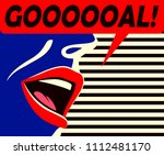 pop art minimal style mouth of... | Shutterstock .eps vector #1112481170