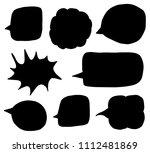 vector set with black...   Shutterstock .eps vector #1112481869