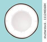 vector round cut coconut milk... | Shutterstock .eps vector #1112483684