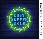 best summer sale neon sign in... | Shutterstock .eps vector #1112485910