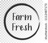 black farm fresh label vector ... | Shutterstock .eps vector #1112487173