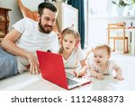 my favorite. proud father and... | Shutterstock . vector #1112488373