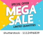 mega sale  special offer ...   Shutterstock .eps vector #1112496839