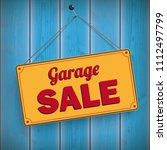 sign with the text garage sale...   Shutterstock .eps vector #1112497799