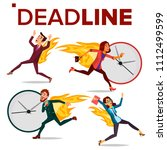 deadline concept set vector.... | Shutterstock .eps vector #1112499599