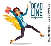 deadline concept vector.... | Shutterstock .eps vector #1112499608