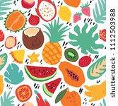 minimal summer trendy vector... | Shutterstock .eps vector #1112503988