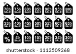 sale discount icons. sale... | Shutterstock .eps vector #1112509268