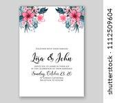 tropical summer floral wedding... | Shutterstock .eps vector #1112509604