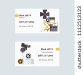 vector business cards with... | Shutterstock .eps vector #1112513123