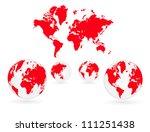 world map | Shutterstock .eps vector #111251438