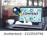 content marketing content data... | Shutterstock . vector #1112514746